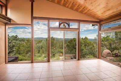 View from sunroom to the Pecos River Valley