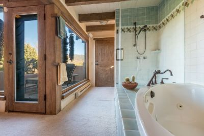 Access to private deck from the master bathroom