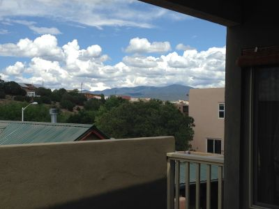 Deck also enjoys views of the Sangre de Cristo Mountains