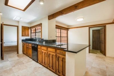 Kitchen with View of Breakfast Nook & Laundry Room