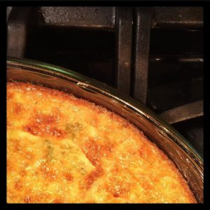 Crustless Green Chile Bacon Quiche Recipe