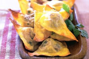 Fried Cheesy Hatch Green Chile Avocado Wontons