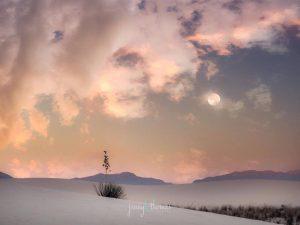 Full Moon over White Sands