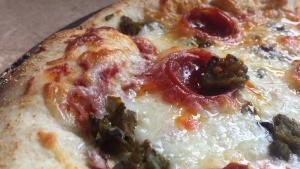 Green Chile Stuffed Crust Pizza Recipe