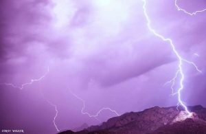 Lightning Striking the Sandias