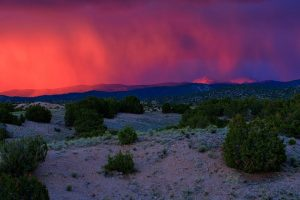Sunset Virga Glow on the Truchas Peaks
