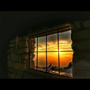 Sunset from Kiwanis cabin on Sandia Peak